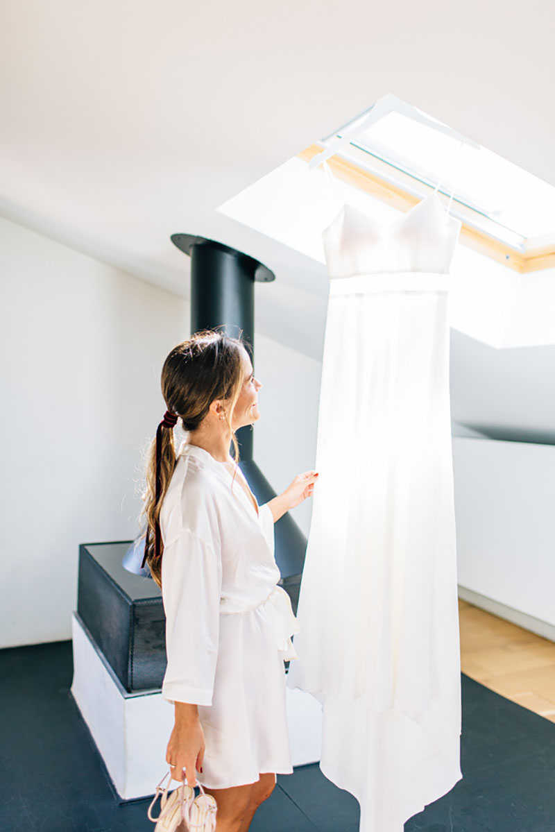 8 Bride And Her Hanging Dress