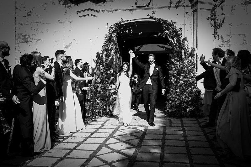 l'entrada a la cerimònia