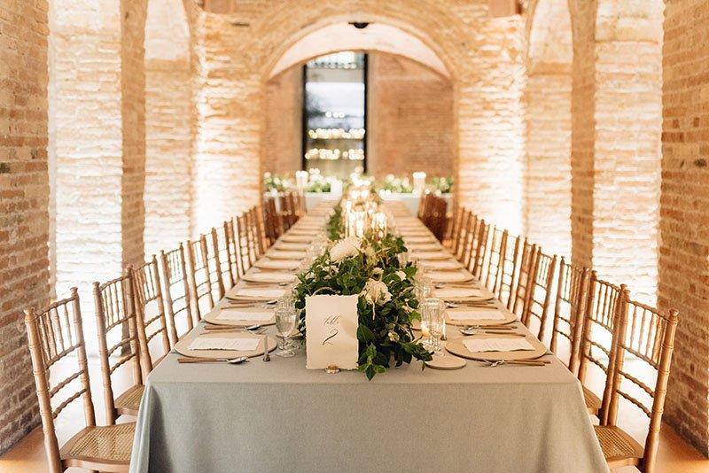 taula llarga sopar boda
