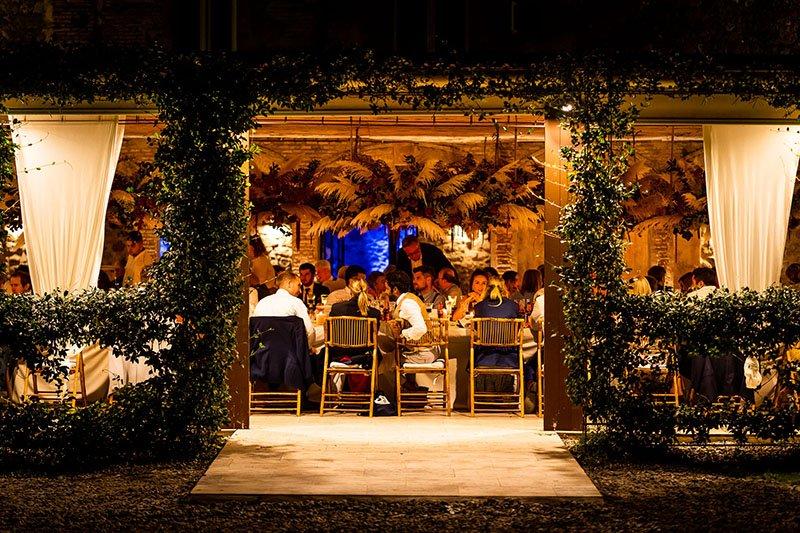 vista de nit de la boda
